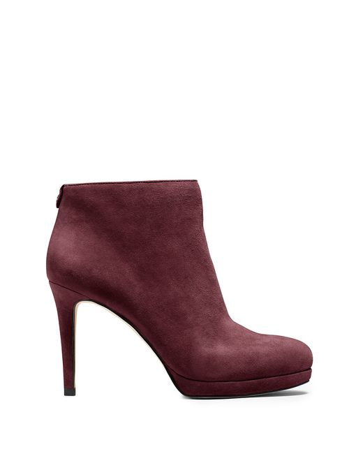 MICHAEL Michael Kors | Purple Sammy Suede Ankle Booties | Lyst