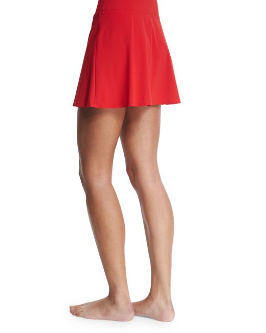 karla colletto basic a line swim skirt in lyst