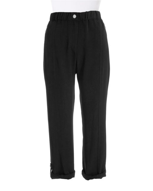 Calvin Klein | Black Button Cuff Pants | Lyst