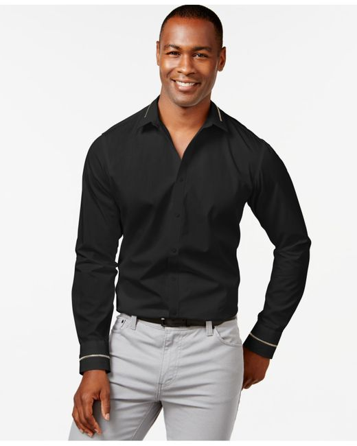 INC International Concepts | Black Snyder Long-sleeve Shirt, Only At Macy's for Men | Lyst