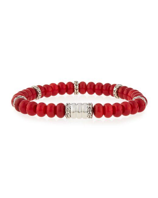 John Hardy | Red Men's Batu Bedeg Coral Beaded Bracelet for Men | Lyst