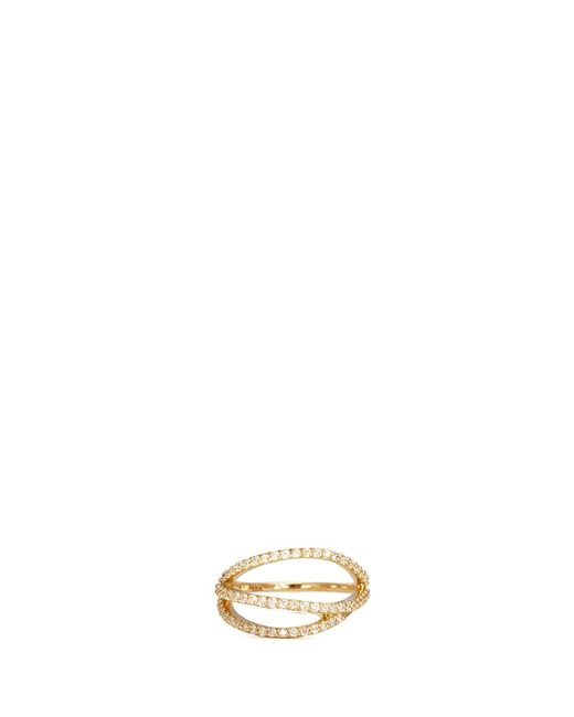 Phyne By Paige Novick | Metallic Lily' 18k Gold Diamond Pavé Curved Line Ring | Lyst