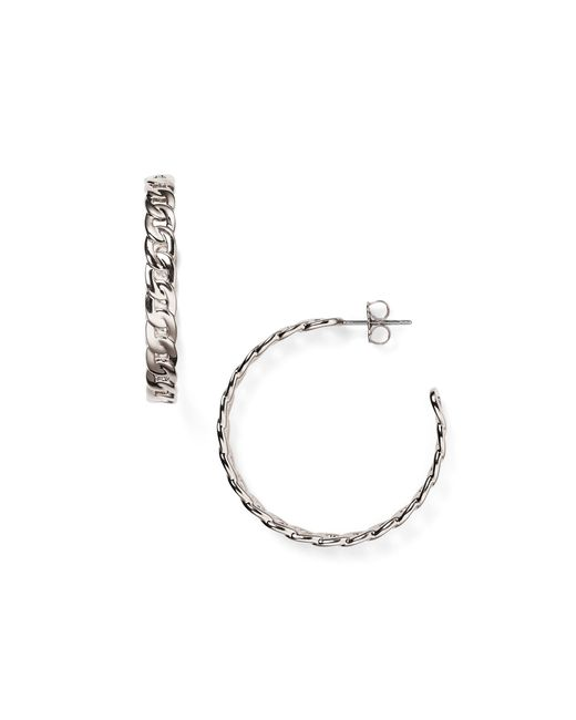 Nadri | Metallic Chain Hoop Earrings | Lyst