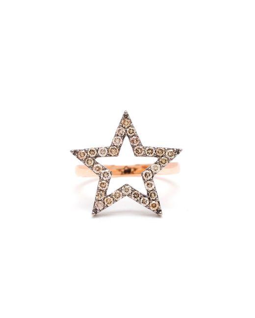 Rosa De La Cruz | Pink 18k Rose Gold And Diamond Star Ring | Lyst
