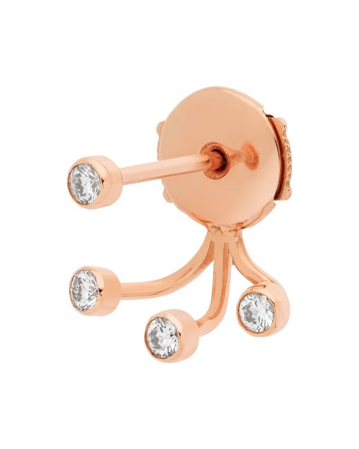 Vanrycke | Pink Ear Jacket Supernov Earringsa In Gold And Diamonds | Lyst