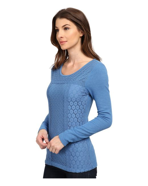 Lucky Brand   Blue Lace Patched Thermal   Lyst