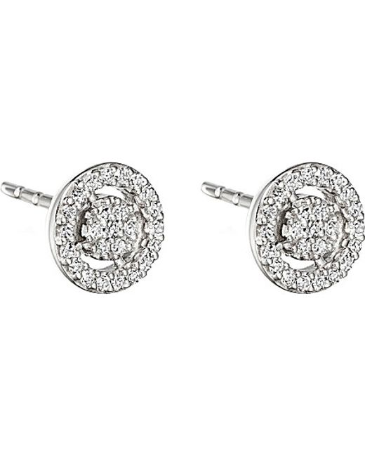 Astley Clarke | Mini Icon Aura 14ct White Gold And Diamond Stud Earrings | Lyst