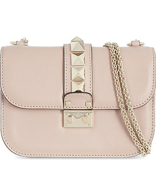 Valentino | Purple Stud Lock Small Shoulder Bag | Lyst