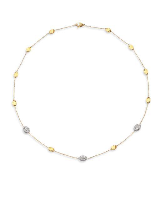 Marco Bicego | Metallic Siviglia Diamond & 18k Yellow Gold Station Necklace | Lyst