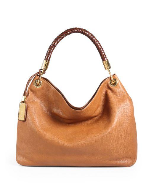 Michael Kors   Brown Skorpios Large Leather Hobo Bag   Lyst