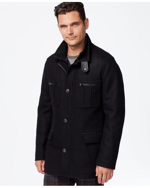Cole Haan | Black Melton Jacket for Men | Lyst