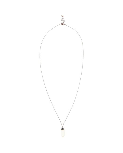 River Island | Metallic Silver Tone Shard Pendant for Men | Lyst