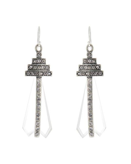 Lulu Frost | Metallic Crystaline Earrings | Lyst