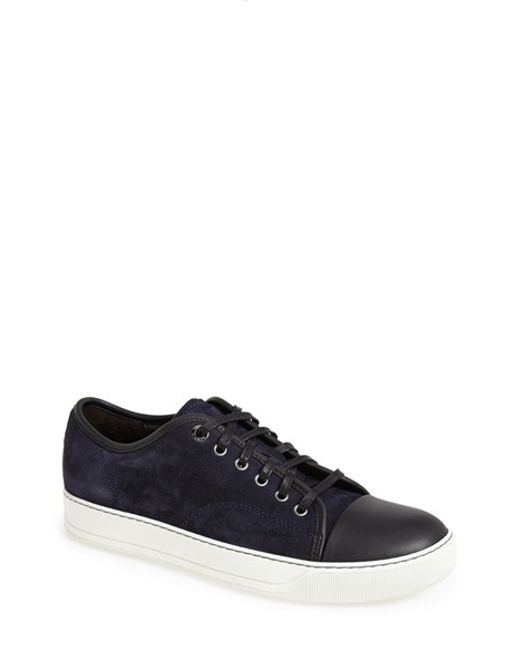 Lanvin | Blue Jacquard Sneaker Slip-on for Men | Lyst