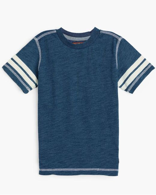 7 For All Mankind - Blue Boy's 4-7 Crew Neck Tee In Indigo Dipped for Men - Lyst