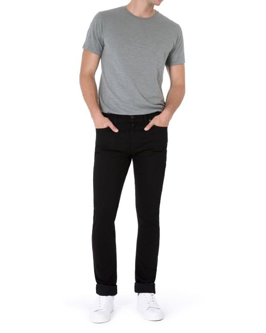7 For All Mankind | Ronnie Rinse Black for Men | Lyst