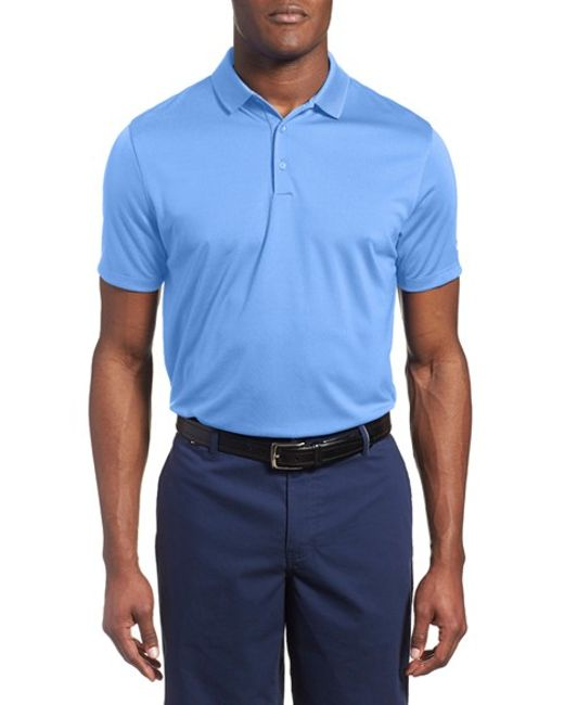 Nike 39 victory dri fit golf polo in blue for men lyst for Nike dri fit victory golf shirts