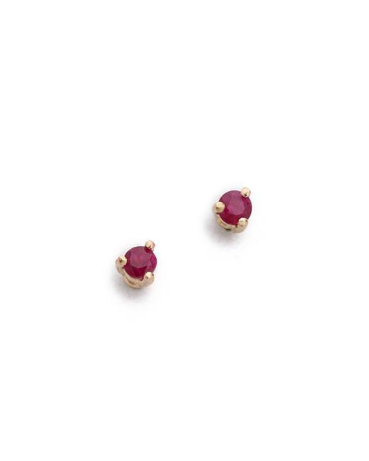 Blanca Monros Gomez | Red Tiny Ruby Stud Earrings | Lyst