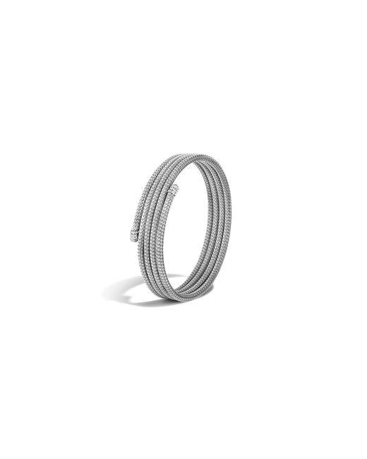 John Hardy | Metallic Classic Chain Sterling Silver Diamond Pavé Small Coil Bracelet | Lyst
