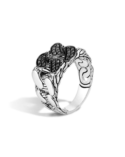 John Hardy | Metallic Men's Lava Black Sapphire Chain Gourmette Ring for Men | Lyst