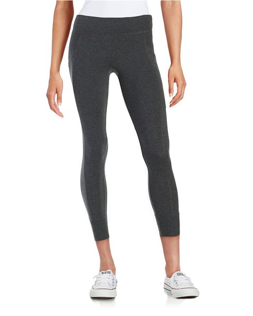 Calvin Klein | Gray Cotton-stretch Jogger Leggings | Lyst