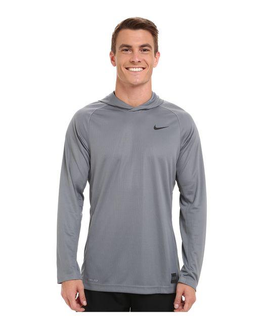 Nike Elite Hooded Shooter Shirt In Gray For Men Cool Grey