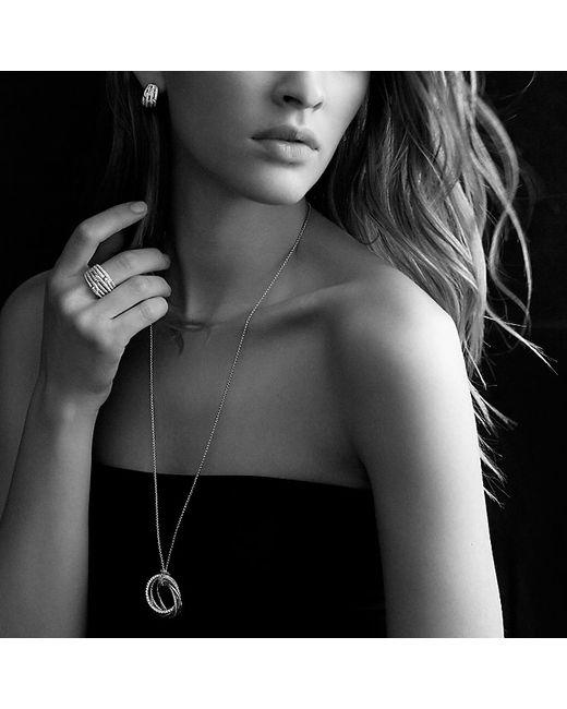 David Yurman | Metallic Labyrinth Double-loop Earrings With Diamonds In 18k Gold | Lyst