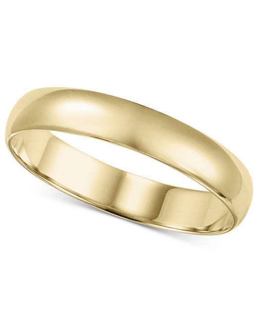 Macy's | Metallic 14k Gold 4mm Wedding Band for Men | Lyst