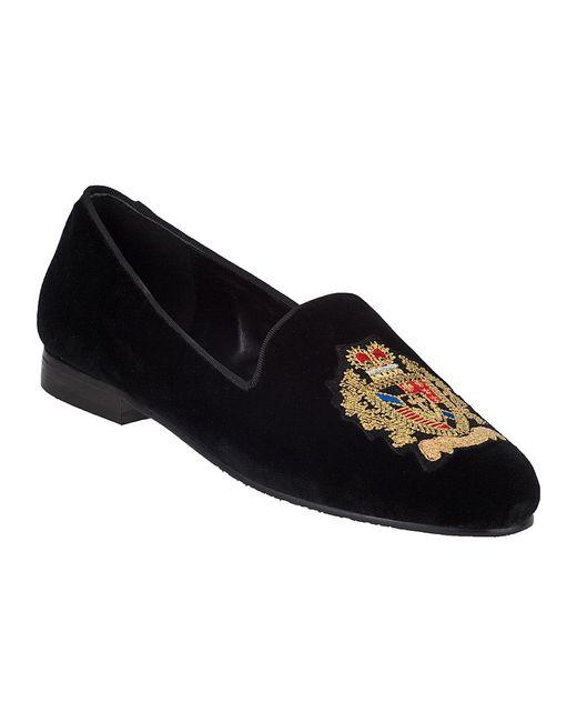 Jon Josef   Black G-Emblem Velvet Loafers    Lyst