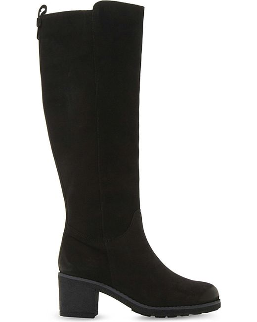 dune tibbi leather knee high boots in black save 6 lyst