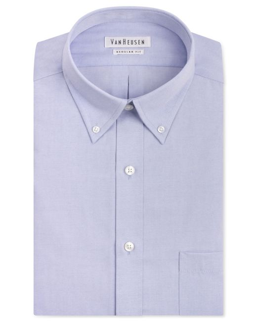 Van Heusen Classic Fit Easy Care Pinpoint Oxford Dress