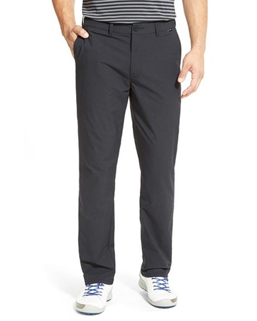 Travis Mathew | Black 'hough' Trim Fit Golf Pants for Men | Lyst