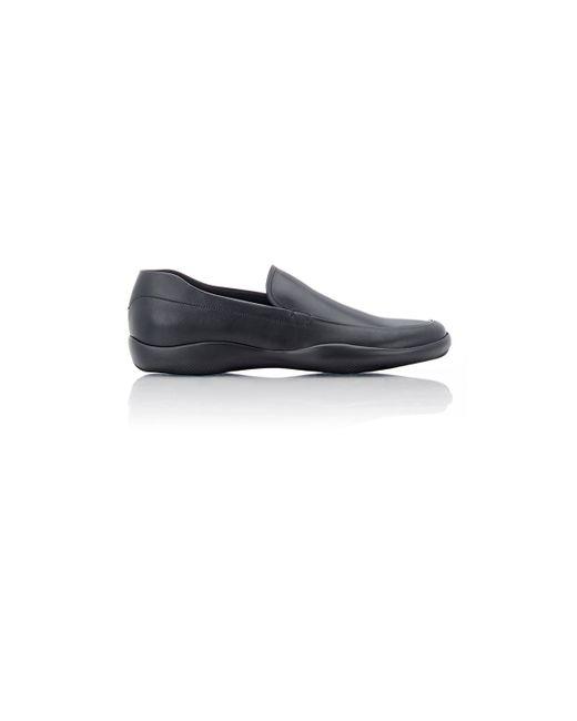 Prada Rubber-sole Venetian Loafers in Black for Men | Lyst