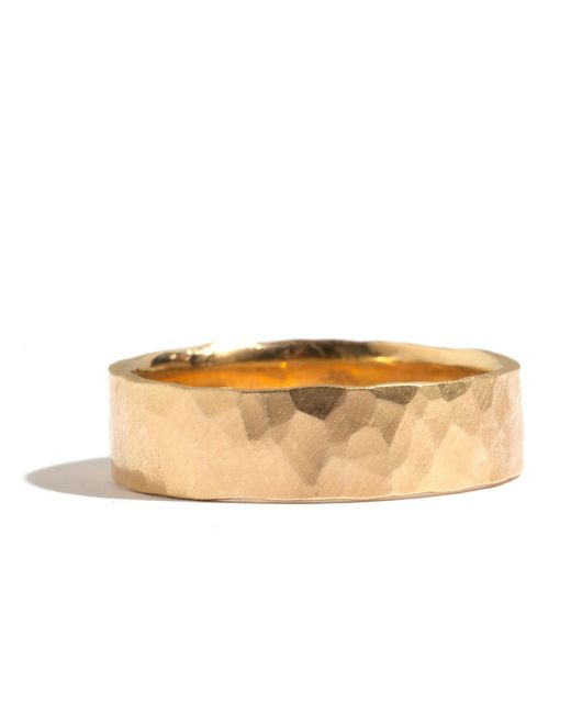 Melissa Joy Manning | Metallic 18k Men's Hammered Texture 6mm Ring | Lyst
