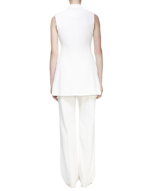 Stella McCartney | White Becka Sleeveless Tuxedo Jacket | Lyst
