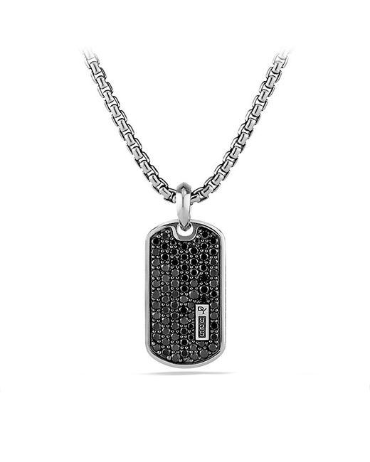 David Yurman | Pavé Tag With Black Diamonds for Men | Lyst