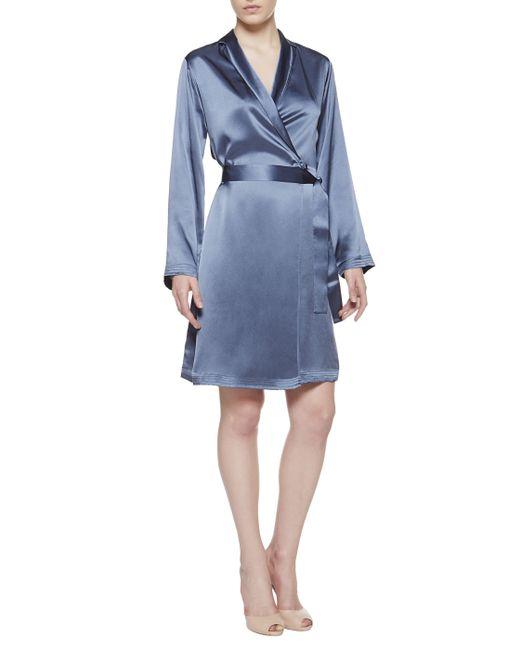 La Perla | Blue Short Robe | Lyst
