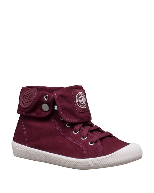 $30 - Convertible and charismatic kicks with a soft, washed cotton design and an ultra-comfy, OrthoLite padding. Textile upper. Round toe. Lace-up closure. Textile lining. TPR rubber sole. OrthoLite padded insole. Imported. Color: Wine.
