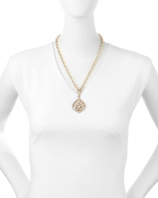 R.j. Graziano | Metallic Short Summer Pendant W/Crystals | Lyst