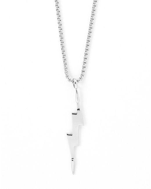 Vitaly | Metallic Zanmi X Stainless Steel Lightning Bolt Pendant - Silver for Men | Lyst