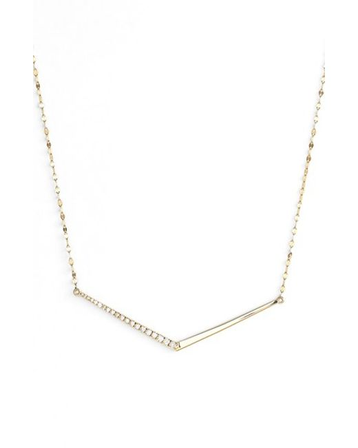 Lana Jewelry | Metallic 'mirage' Edge Diamond Pendant Necklace | Lyst