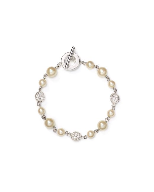 Carolee | White Faux-pearl Fireball Illusion Bracelet | Lyst