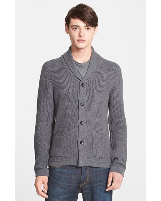 Rag & Bone | Gray Standard Issue 'avery' Shawl Collar Cardigan for Men | Lyst