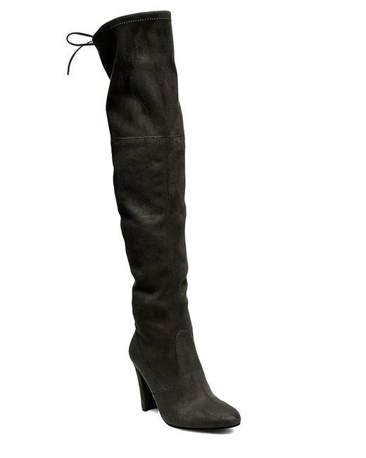 Steve Madden | Black Gorgeous Over-the-knee Boots | Lyst