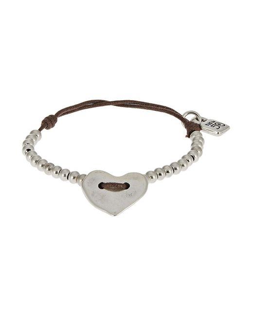 Uno De 50 | Metallic Petite Heart Charm Bracelet | Lyst
