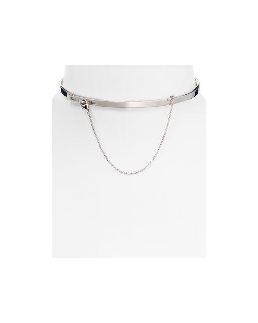 "Eddie Borgo | Metallic Extra Thin Safety Chain Choker Necklace, 12"" | Lyst"