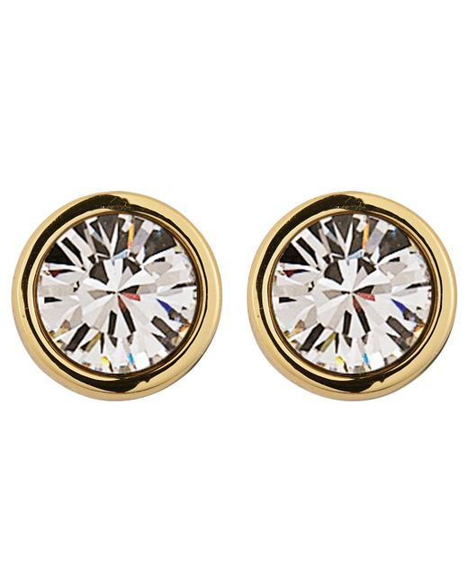 Dyrberg/Kern | Metallic Dyrberg/kern Noble Medium Swarovski Crystal Stud Earrings | Lyst