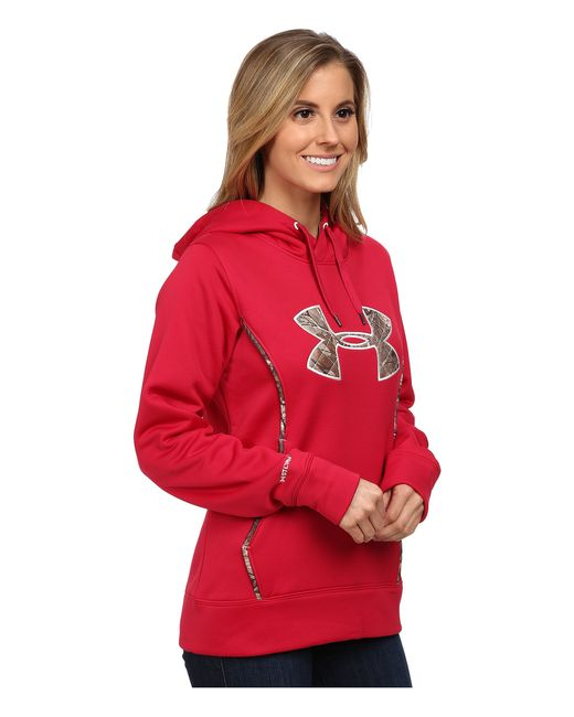Under Armour | Red Ua Storm Caliber Hoodie | Lyst