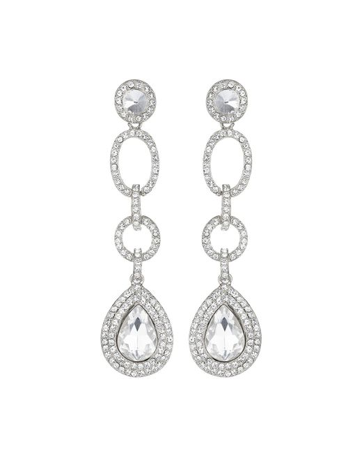 Mikey | Metallic Multi Link Marquise Stone Drop Earring | Lyst