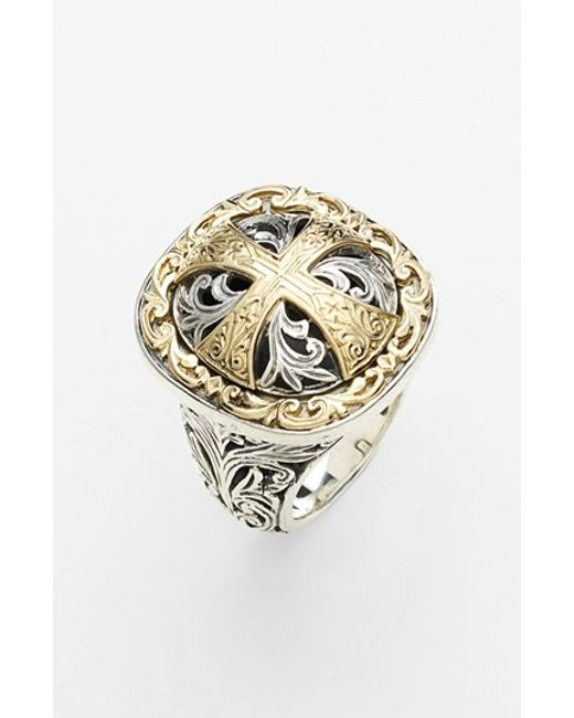 Konstantino | Metallic 'classics' Cross Two-tone Ring | Lyst